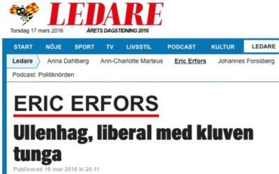 Expressen ställer liberalisten Ullenhag mot väggen med sjöfyllerilagen.