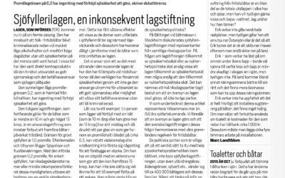 Båtliv/Mistluren: Sjöfyllerilagen, en inkonsekvent lagstiftning.