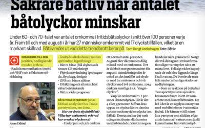 """""""SÄKRARE BÅTLIV NÄR AKTIVITETSNIVÅN PÅ SJÖN MINSKAR"""""""