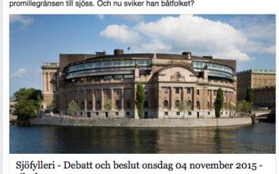 Debatt riksdagen november 2015