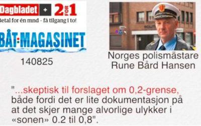 Vad säger Norge och Finland om 0,2-lag på sjön?