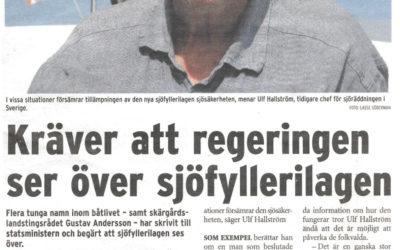 Lagens tillämpning är kontraproduktiv säger Ulf Hallström, f.d ansvarig för Sjöfartsverkets sjöräddning