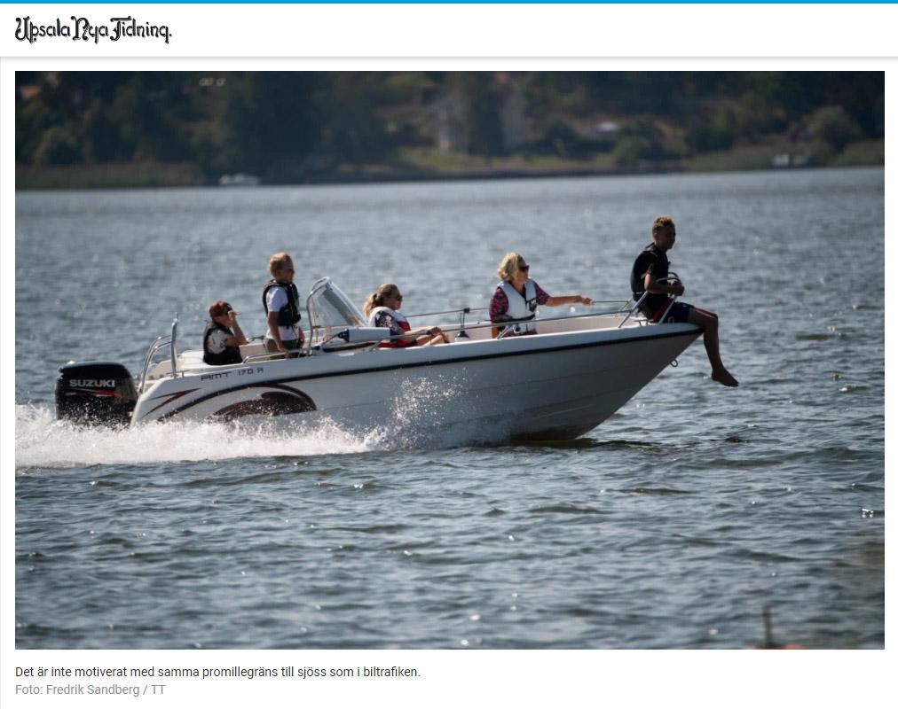 Höj promillegränsen till sjöss – Upsala Nya Tidning 2021-08-24 CUT
